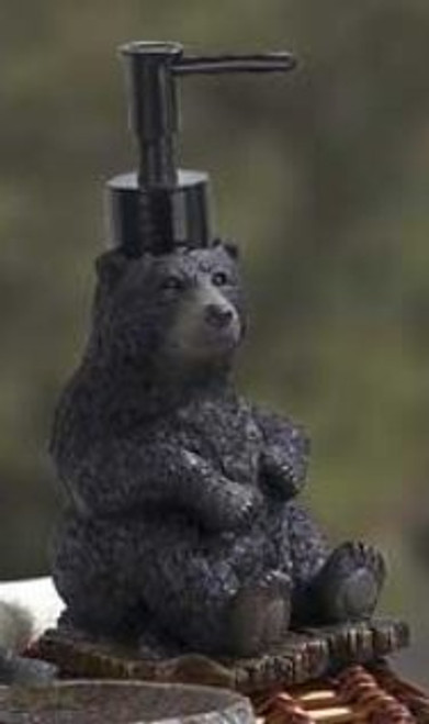 Black Bear Lodge Soap Dispenser