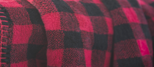 Red-Black Buffalo Check/Black Throw