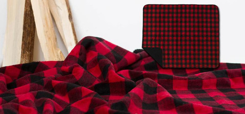 Large Bunk House Plaid/Black Throw