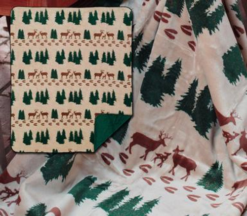 Denali Deer/Spruce Throw