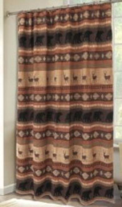 Autumn Trails Collection Shower Curtain