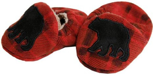 Red Plaid Bear Booties