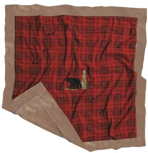 Red Plaid Bear Baby Blanket