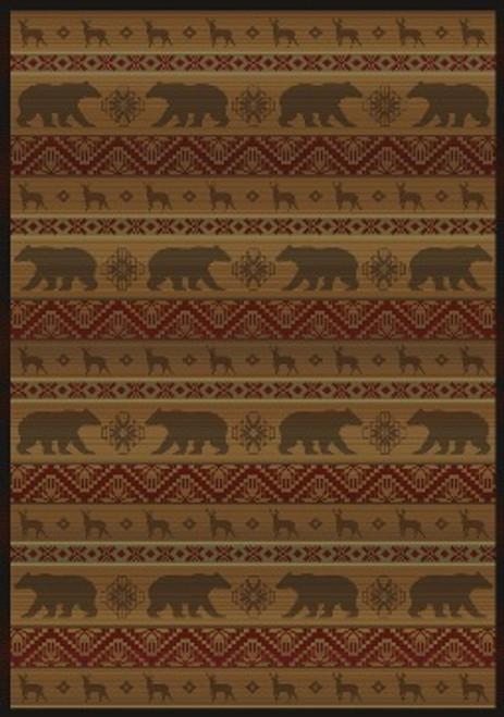 Nordic Bear rug - Walnut - ON SALE!