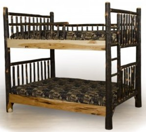 Hickory Twin Bunk Beds
