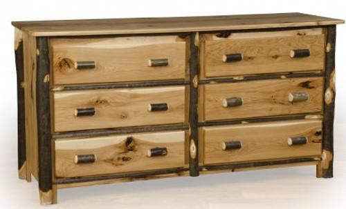 Hickory and Oak 6 drawer dresser