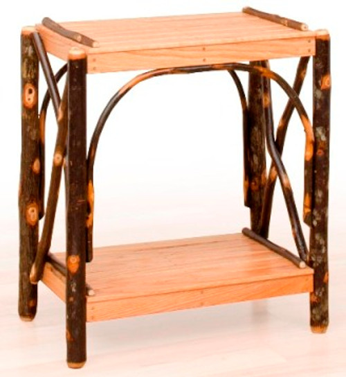 Hickory and Oak 2 tier End Table