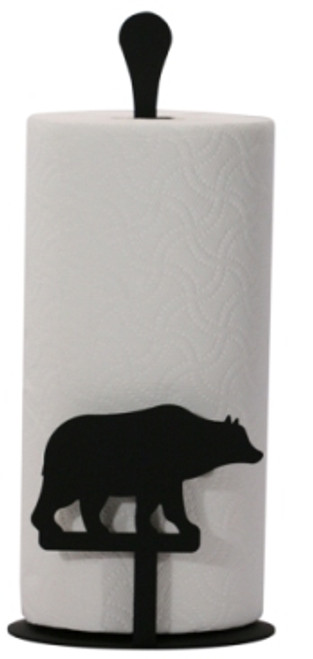 Bear paper towel stand