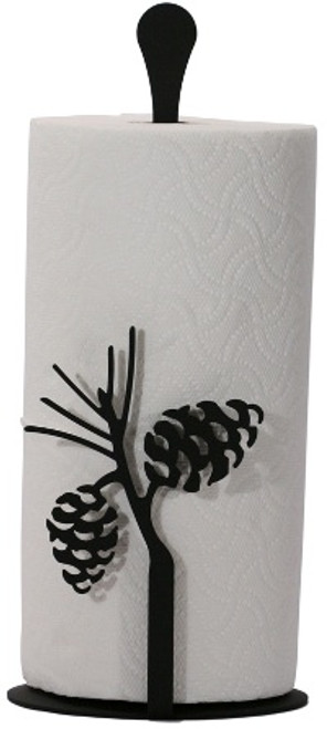 Pinecone paper towel stand