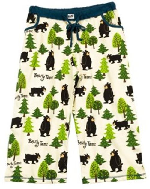 Bearly Tame Pajama Capri Pants