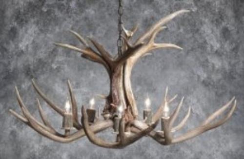 Mule Deer Chandelier - Tamarack
