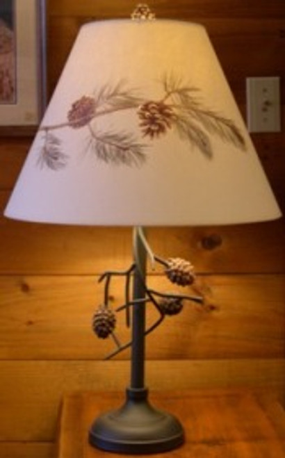 Pine Cone Table lamp with pine cone shade - OUT OF STOCK