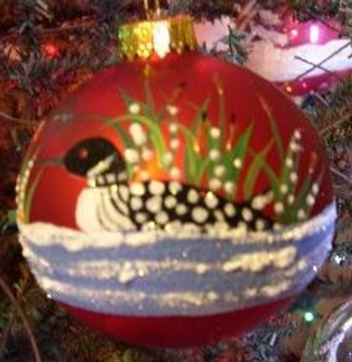 Hand Painted Ornament, Loon