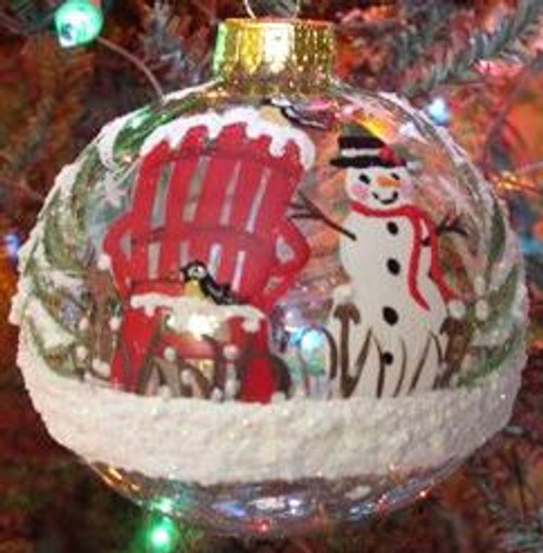 Hand Painted Ornament_ Snowman