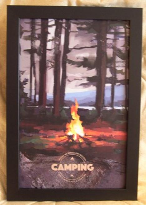 Camping Poster, framed