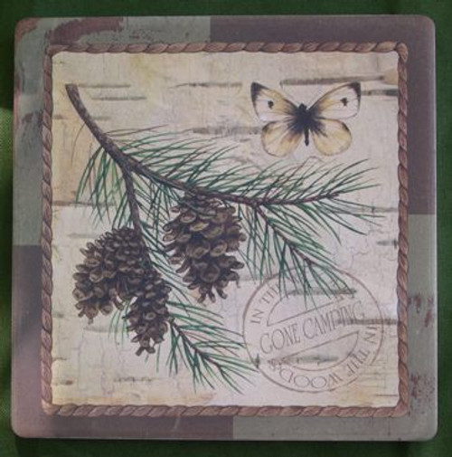 Pine cone coaster set