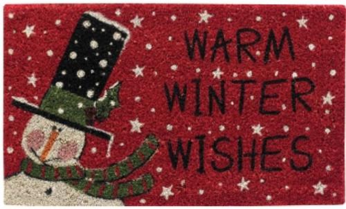 Warm Winter Wishes Doormat