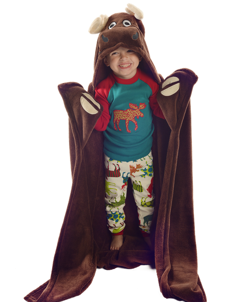 Moose Critter Kids Blanket