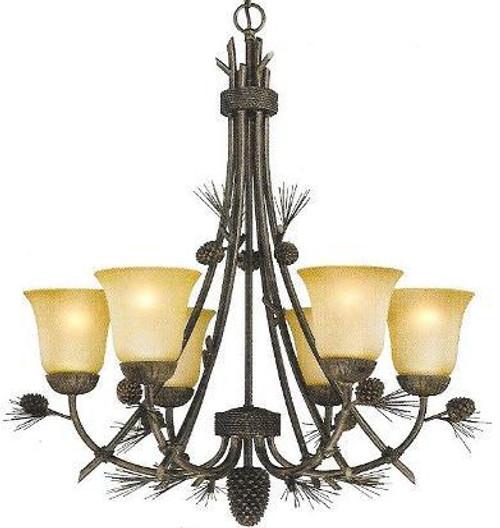 Sierra 6 light chandelier