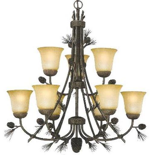 Sierra 9 light chandelier