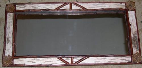 """Birch Bark Mirror, 13"""" x 27.5"""""""