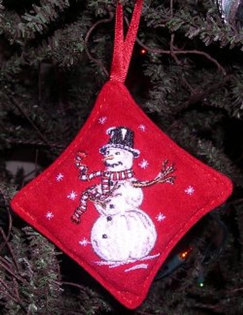 Balsam Snowman Ornament