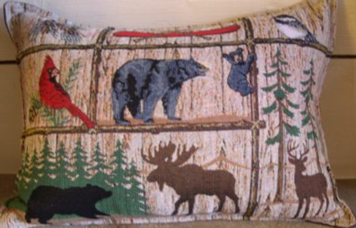 Moose, Bear, Deer, Cardinal Balsam pillow