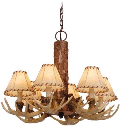 Lodge 6 light chandelier