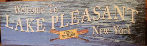 Lake Pleasant Wooden sign