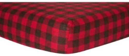 Northwoods Flannel Crib Sheet