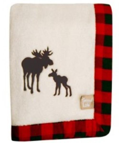 Northwoods Moose Receiving Blanket