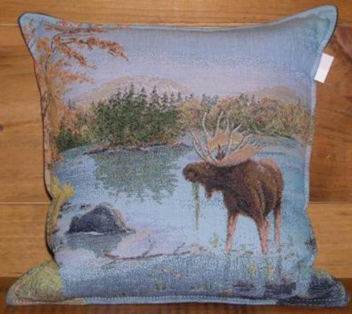 Moose in the lake Balsam Pillow