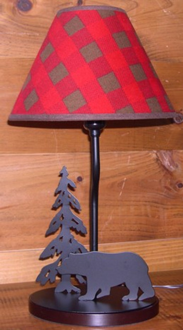 Bear Lamp with Northwoods Lampshade