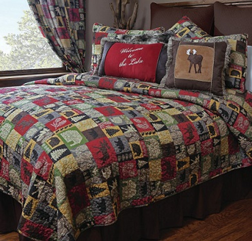 Cabin in the Woods 5 piece Quilt Set - SALE!