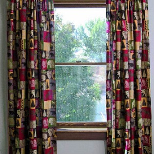 Cabin in the Woods Lined Drapes SALE!