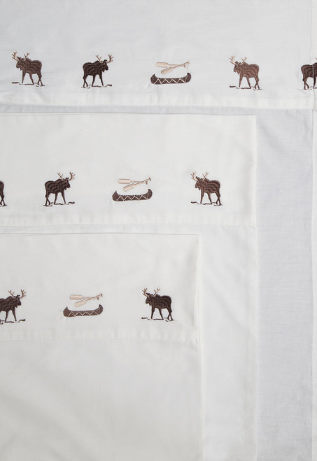 Embroidered Moose Sheets