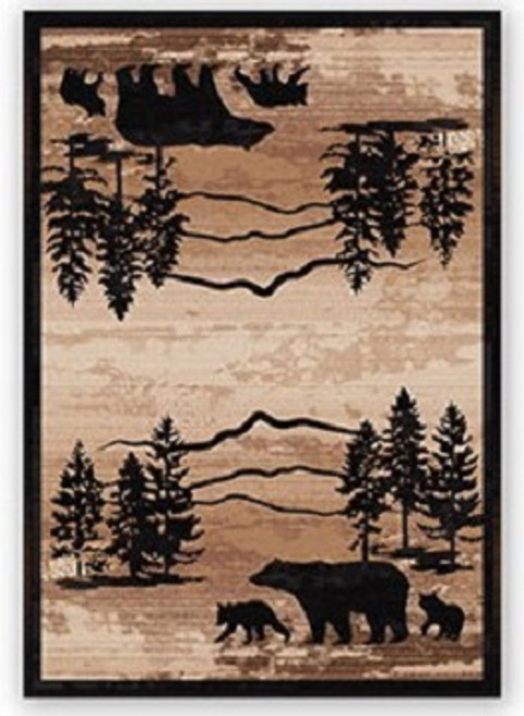 Mountain Shadow Bear Rug - options available