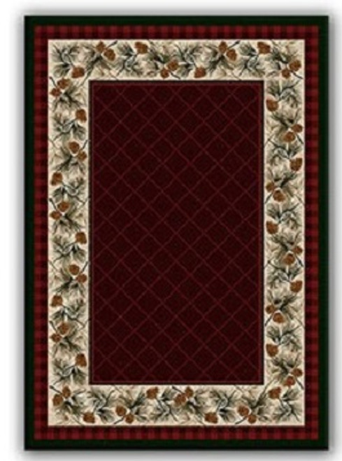 Evergreen Garnet Rug - options available