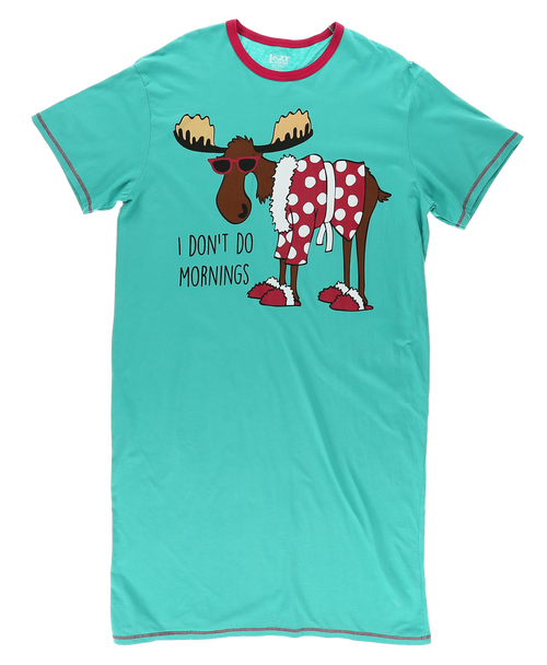 """I Don't Do Mornings"" Nightshirt"