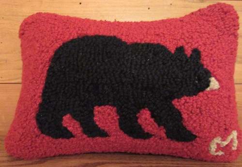 Black Bear on Red Pillow