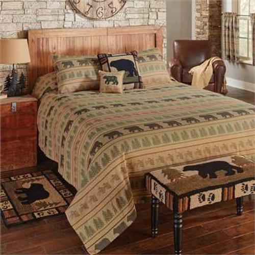 Bear Tracks Queen Bedspread