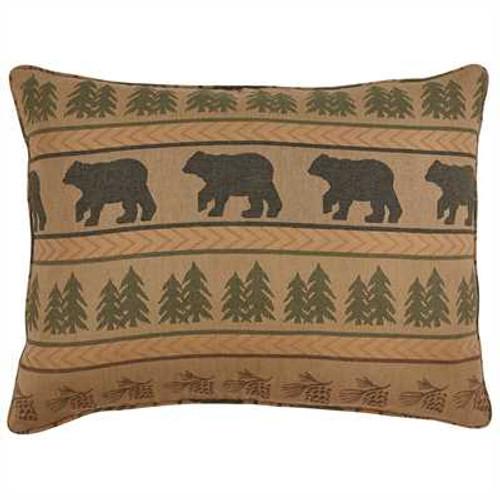 Bear Tracks Pillow Sham
