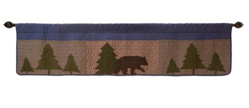 Wilderness Bear Valance  ON SALE