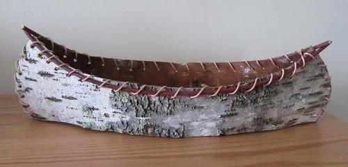 Hand Crafted Birch Bark Canoe