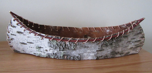 Hand Crafted Birch Bark Canoe