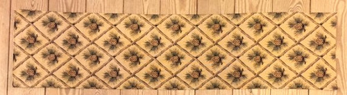Beige Diamond Pinecone Runner