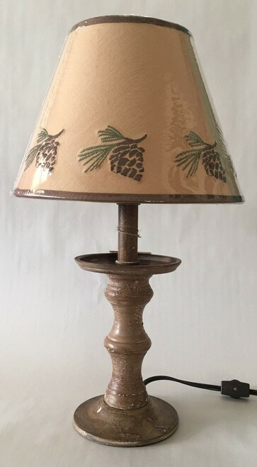 "Pinecone  Candlestick Lamp - 17"""