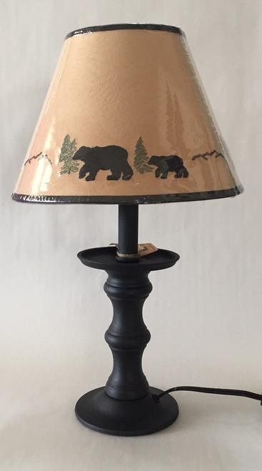 "Bear Candlestick Lamp - 17"""