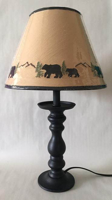 "Bear Candlestick Lamp - 20"""