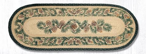 Pinecone oval braided runner